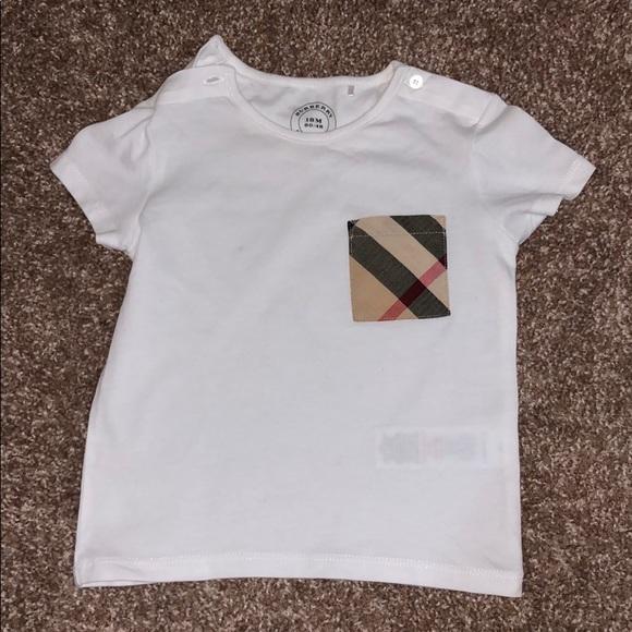burberry check pocket t shirt